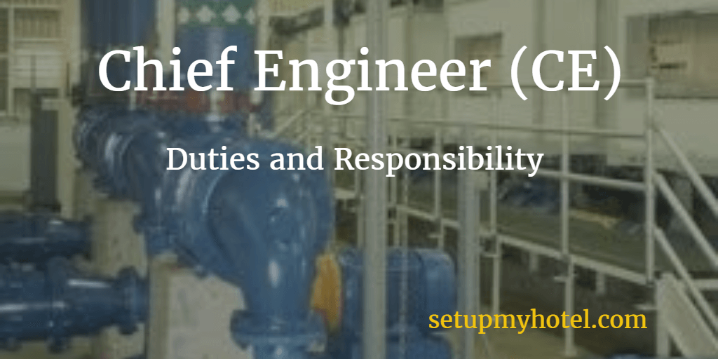 Chief Engineer Job Description | Hotel Chief Engineer Ce Engineering Manager Job Description