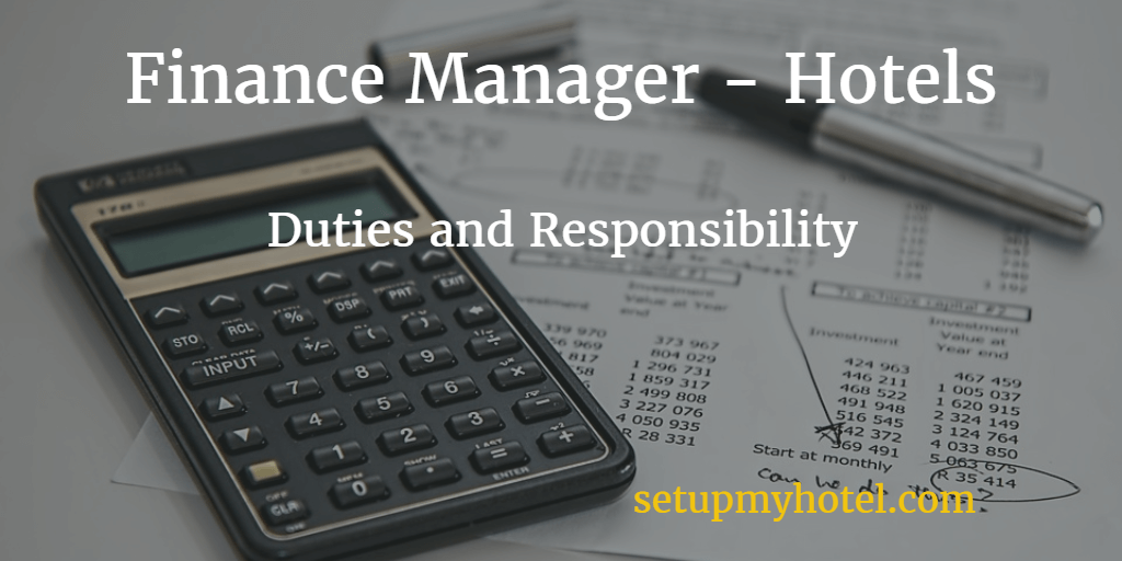 hotel accounts manager finance manager duties and