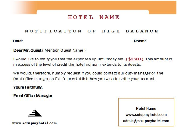 How to handle guest with high Balance / Floor Limit