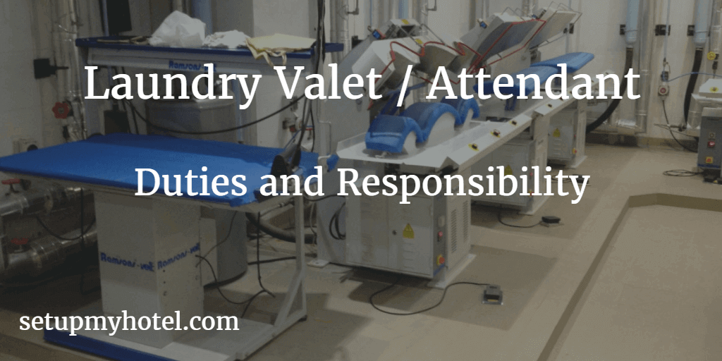 Laundry Valet Job Description Attendant Duties And Responsibilities