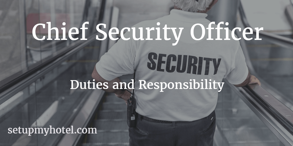 Hotel Chief Security Officer Resort Security