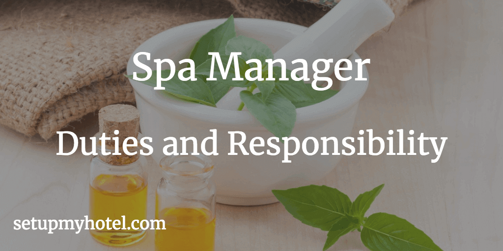 Hotel Spa Manager Recreation Asst