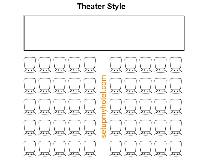 Theater Style Banquet Room Setup