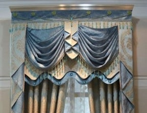 Types of Hotel Window Curtains Treatments - Swags and Cascades