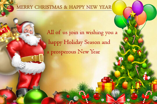 Christmas And New Year Greetings Sample For Hotel Guests Email