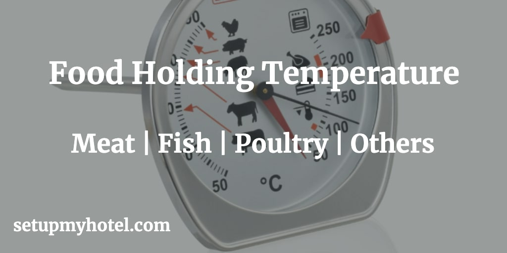 1) Food Holding temperature Range Guide for Meat Products, 2) Food Holding temperature Range Guide for Poultry Products etc.